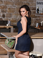 GEMMA MASSEY IN HER TIGHT DRESS IN THE KITCHEN - ImGemmaMassey.com