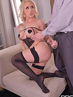 Toe Loving Philanderer: Sexy Blonde Gives Dream Footjob free photos and videos on DDFNetwork.com