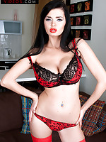 Sha Rizel Videos - The Brunette In Red - Sha Rizel (84 Photos)